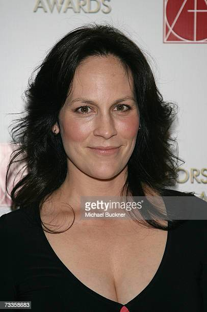 Actress Annabeth Gish arrives at the 11th Annual Art Directors Guild Awards at the Beverly Hilton Hotel on February 17 2007 in Beverly Hills...
