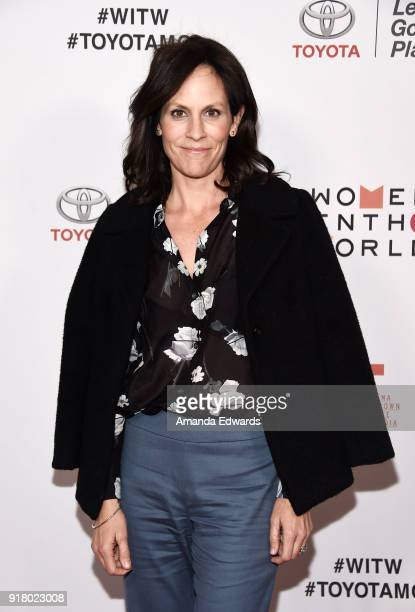 Actress Annabeth Gish arrives at the 2018 Women In The World Los Angeles Salon at NeueHouse Hollywood on February 13 2018 in Los Angeles California