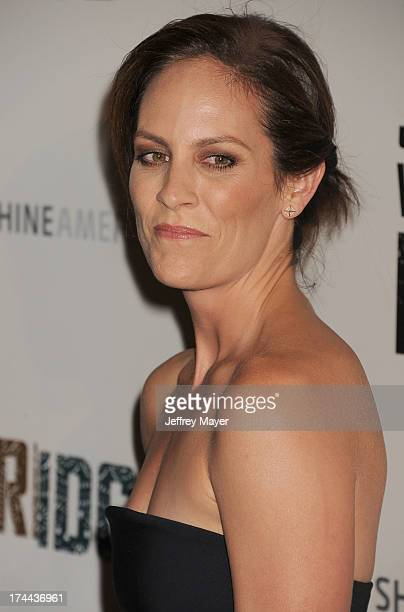 Actress Annabeth Gish arrives at the Series Premiere Of FX's 'The Bridge' at DGA Theater on July 8 2013 in Los Angeles California