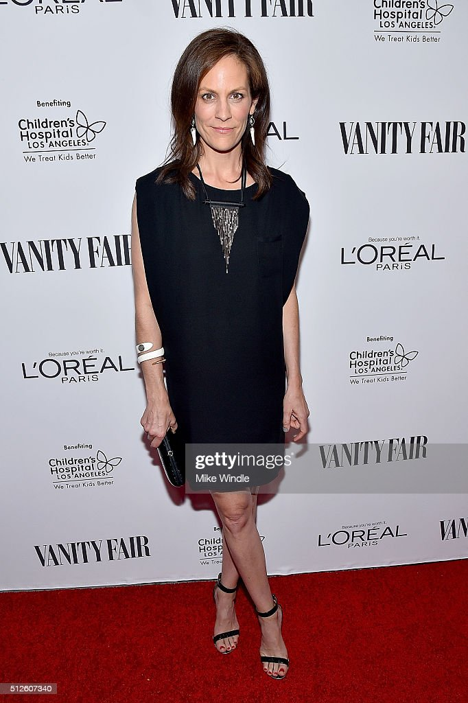 Actress Annabeth Gish attends Vanity Fair, L'Oreal Paris, & Hailee Steinfeld host DJ Night at Palihouse Holloway on February 26, 2016 in West Hollywood, California.