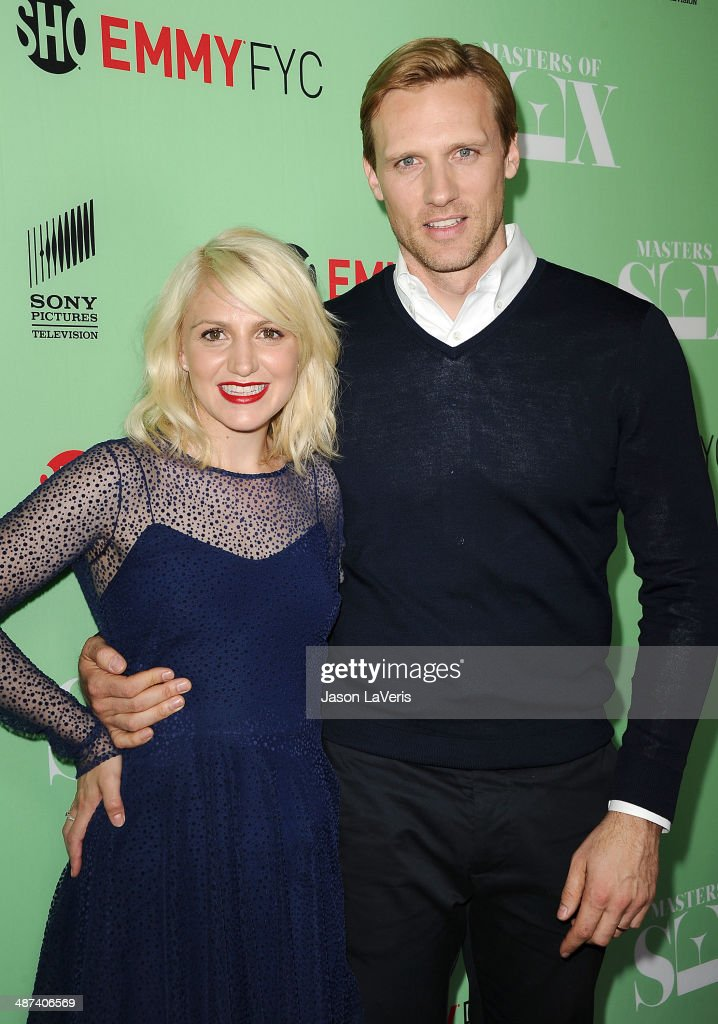 Actress Annaleigh Ashford and actor Teddy Sears attend Showtime's 'Masters Of Sex' special screening and panel discussion at Leonard H. Goldenson Theatre on April 29, 2014 in North Hollywood, California.