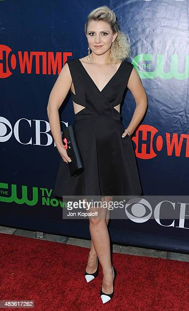 Actress Annaleigh Ashford arrives at CBS CW And Showtime 2015 Summer TCA Party at Pacific Design Center on August 10 2015 in West Hollywood California