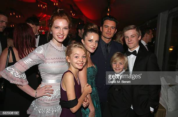 Actress Annalise Basso actress Shree Crooks actress Samantha Isler actor Orlando Bloom actor Charlie Shotwell and actor Nicholas Hamilton attend...