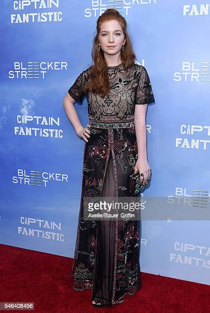 Actress Annalise Basso arrives at the premiere of 'Captain Fantastic' at Harmony Gold on June 28 2016 in Los Angeles California