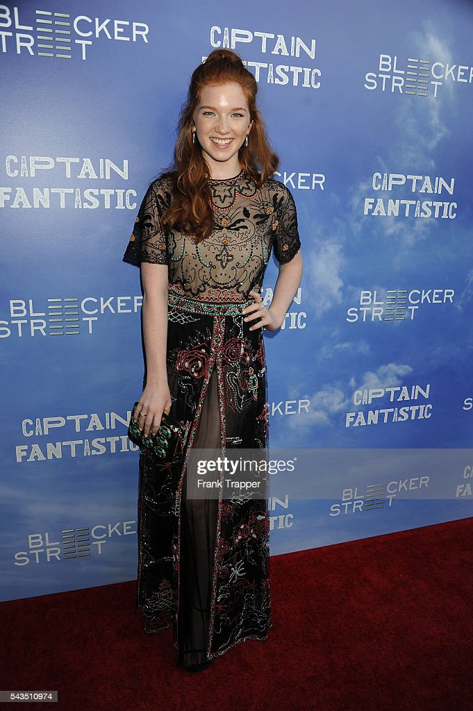 Actress Annalise Basso attends the premiere of Bleecker Street Media's 'Captain Fantastic' held at the Harmony Gold Theater on June 28, 2016 in Hollywood, California.