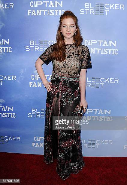 Actress Annalise Basso attends the premiere of 'Captain Fantastic' at Harmony Gold on June 28 2016 in Los Angeles California