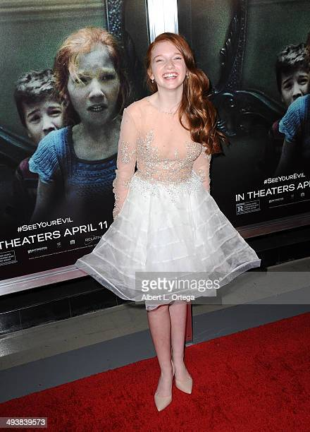 Actress Annalise Basso attends the Screening Of Relativity Media's 'Oculus' held at TLC Chinese 6 Theatres on April 3 2014 in Hollywood California