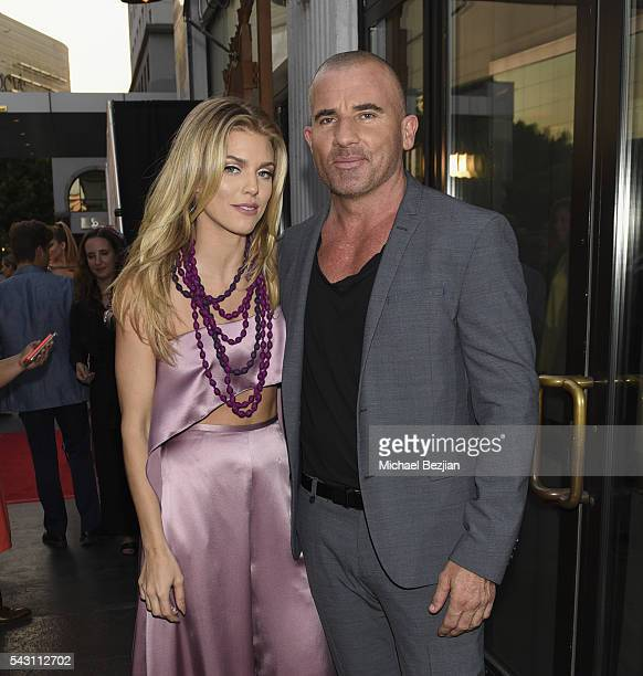 Actress AnnaLynne McCord and actor Dominic Purcell at together1heart Launch Party hosted by AnnaLynne McCord at Sofitel Hotel on June 25 2016 in Los...