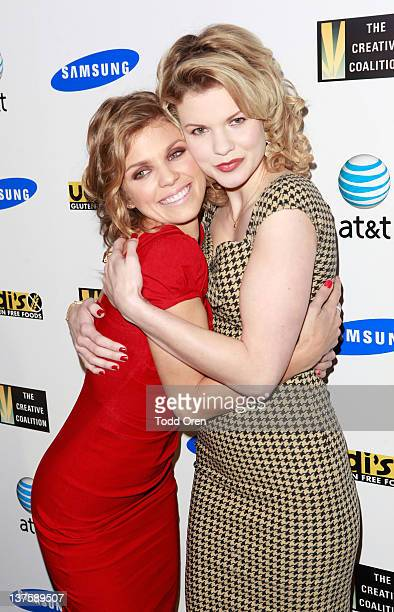 Actress AnnaLynne McCord and Angel McCord attends the Creative Coalition's Annual Spotlight Initiative Awards Gala Dinner at The Supper Club on...