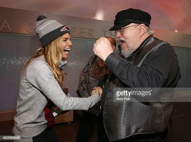 Actress AnnaLynne McCord and novelist George R.R. Martin attend the Kia Luxury Lounge presented by ZIRH at the Scottsdale Center for Performing Arts...