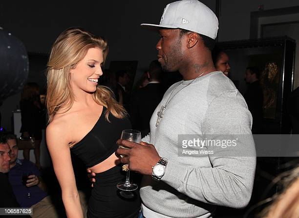 Actress AnnaLynne McCord and rapper Curtis '50 Cent' Jackson attend the Cheetah Vision Hannibal Pictures Emmett/Furla Films AFM party at Pier59...
