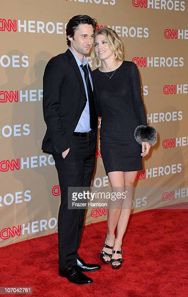 Actress AnnaLynne McCord and Ryan Eggold arrive at the 2010 CNN Heroes An AllStar Tribute held at The Shrine Auditorium on November 20 2010 in Los...