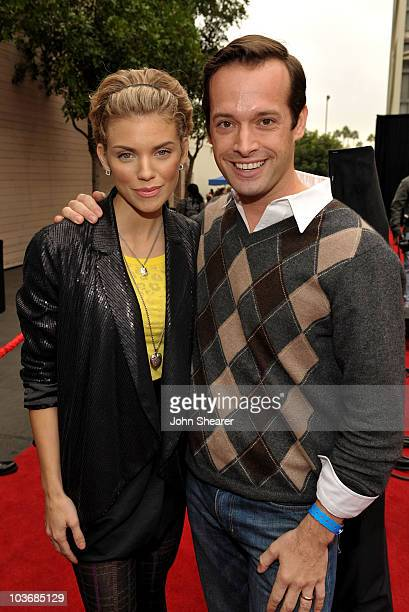 Actress AnnaLynne McCord and Variety Published Brian Gott arrive at Variety's 3rd annual Power of Youth event held at Paramount Studios on December 5...