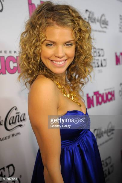 Actress AnnaLynne McCord arrives at In Touch Weekly's Icons and Idols Celebration held at Chateau Marmont on September 7 2008 in Hollywood California