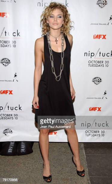 Actress AnnaLynne McCord arrives at the Nip/Tuck Season 5 premiere screening held at the Paramount theatre on October 20th 2007 in Hollywood...