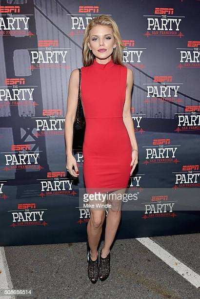 Actress AnnaLynne McCord attends ESPN The Party on February 5 2016 in San Francisco California