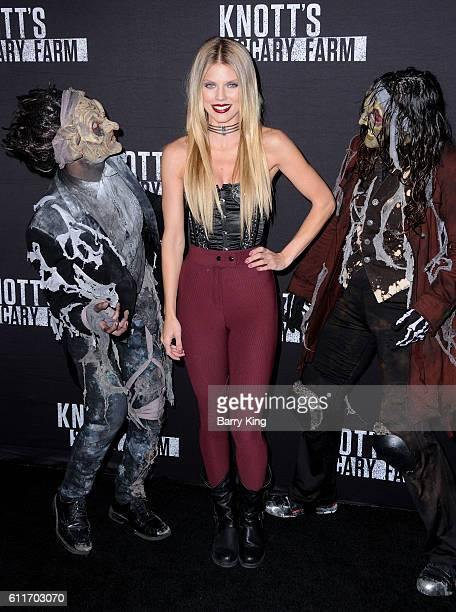 Actress AnnaLynne McCord attends Knott's Scary Farm black carpet event at Knott's Berry Farm on September 30 2016 in Buena Park California
