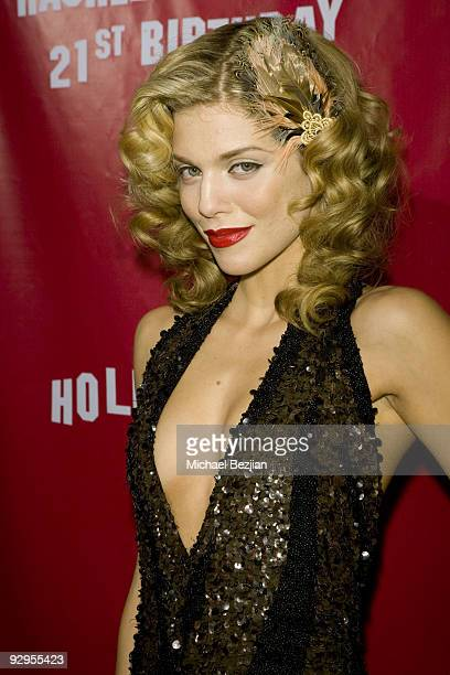 Actress AnnaLynne McCord attends Rachel McCord's 21st Birthday Party at SkyBar on October 27 2009 in West Hollywood California