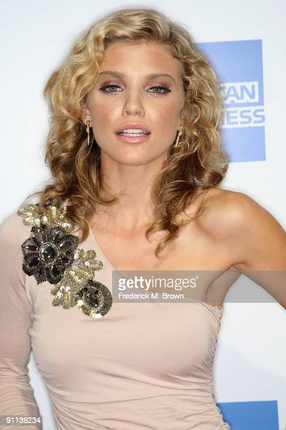 Actress AnnaLynne McCord attends the 27th annual Macy's Passport benefit at the Barker Hangar on September 24 2009 in Santa Monica California