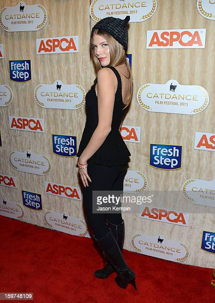 Actress AnnaLynne McCord attends the Catdance Film Festival in Park City to benefit the ASPCA at Sundance Channel HQ on January 19 2013 in Park City...