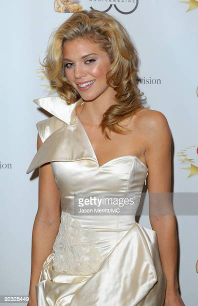 OUT*** Actress AnnaLynne McCord attends the Monte Carlo Television Festival cocktail party held at the Beverly Hills Hotel on October 24 2009 in...