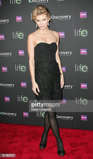 Actress AnnaLynne McCord attends the premiere screening of Discovery Channel's ''LIFE'' at the Getty Center on February 25 2010 in Los Angeles...