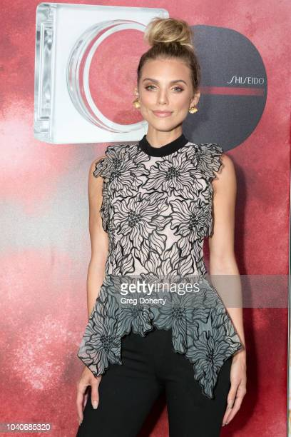 Actress AnnaLynne McCord attends the Shiseido Makeup Launch Party at Quixote Studios on September 25 2018 in Los Angeles California