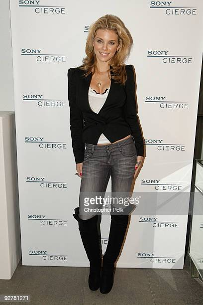 Actress AnnaLynne McCord attends the Sony CIERGE Holiday Preview at SLS Hotel on November 4 2009 in Beverly Hills California