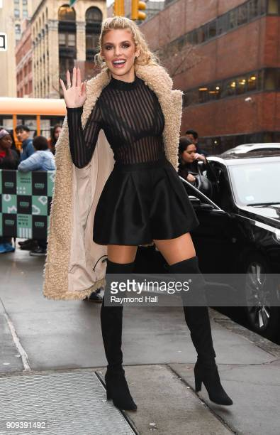 Actress AnnaLynne McCord is seen leaving Aol Live on January 23 2018 in New York City