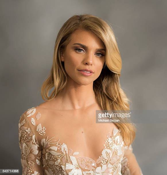 Actress AnnaLynne McCord poses for portriat at The Starving Artists Project on June 29 2016 in Los Angeles California