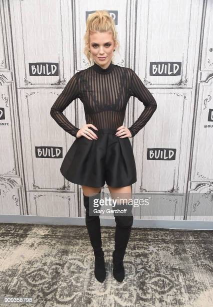 Actress AnnaLynne McCord visits Build Series to discuss the TV comedy 'Let's Get Physical' at Build Studio on January 23 2018 in New York City