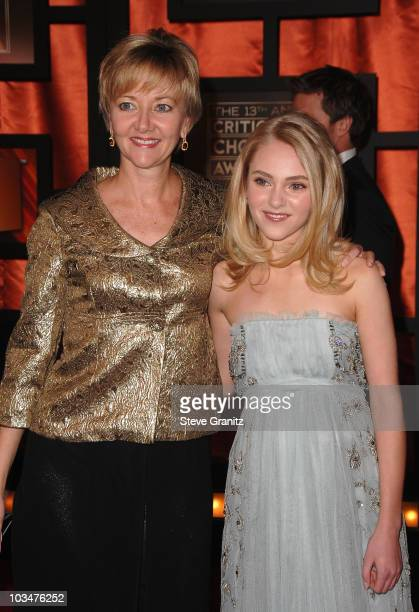 Actress AnnaSophia Robb and guest arrive at the 13th ANNUAL CRITICS' CHOICE AWARDS at the Santa Monica Civic Auditorium on January 7, 2008 in Santa...