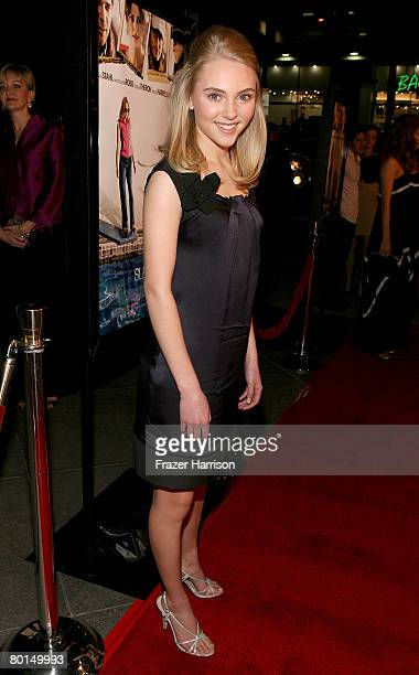 Actress AnnaSophia Robb arrives at Overture Films' screening of 'Sleepwalking' held at the Director's Guild of America on March 6 2008 in Hollywood...