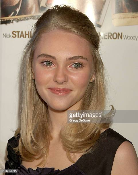 Actress AnnaSophia Robb arrives at the 'Sleepwalking' premiere at the Director's Guild of America on March 6 2008 in Hollywood California