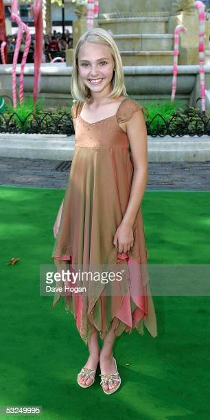 Actress Annasophia Robb arrives at the UK Premiere of 'Charlie And The Chocolate Factory' at the Odeon Leicester Square on July 17 2005 in London...