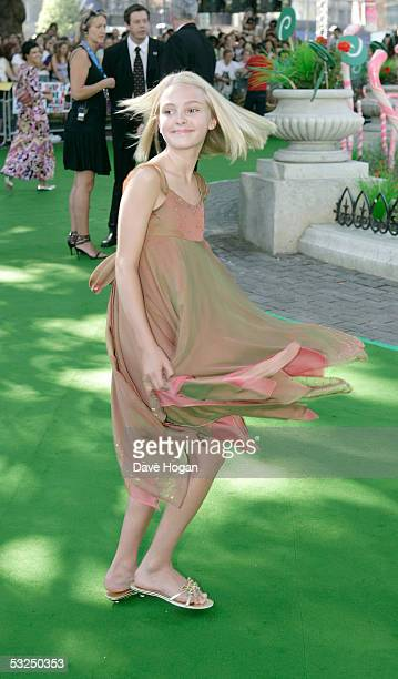Actress Annasophia Robb arrives at the UK Premiere of Charlie And The Chocolate Factory at the Odeon Leicester Square on July 17 2005 in London...
