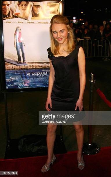 Actress AnnaSophia Robb arrives for the premiere of 'Sleepwalking' in Los Angeles California March 06 2008 AFP PHOTO / GABRIEL BOUYS