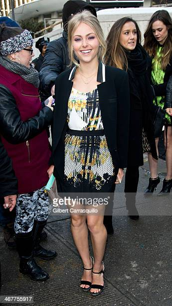 Actress AnnaSophia Robb attends Fall 2014 Mercedes Benz Fashion Week on February 7 2014 in New York City