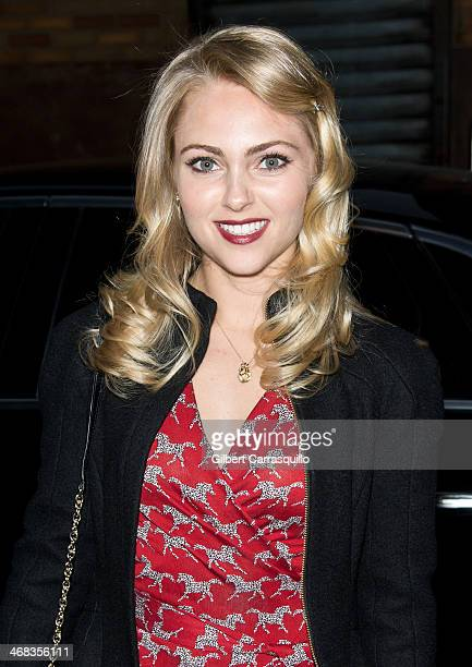 Actress AnnaSophia Robb attends the Diane Von Furstenberg fashion show during MercedesBenz Fashion Week Fall 2014 at Spring Studios on February 9...