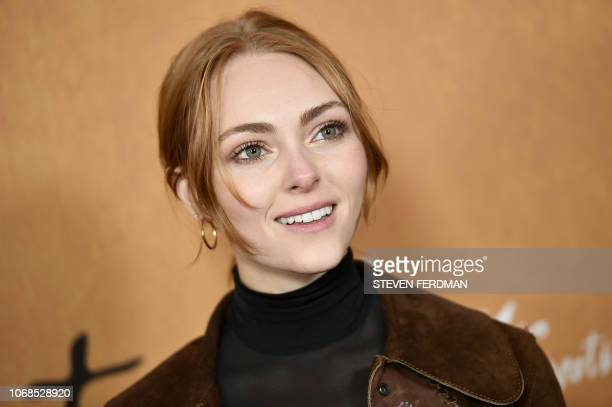 US actress AnnaSophia Robb attends the New York premiere of 'Mary Queen Of Scots' at Paris Theater on December 4 2018 in New York City