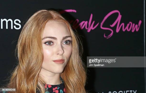Actress AnnaSophia Robb attends the premiere of IFC Films' 'Freak Show' hosted by The Cinema Society and Bluemercury at Landmark Sunshine Cinema on...