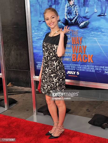 Actress AnnaSophia Robb attends The Way Way Back New York Premiere at AMC Loews Lincoln Square on June 26 2013 in New York City