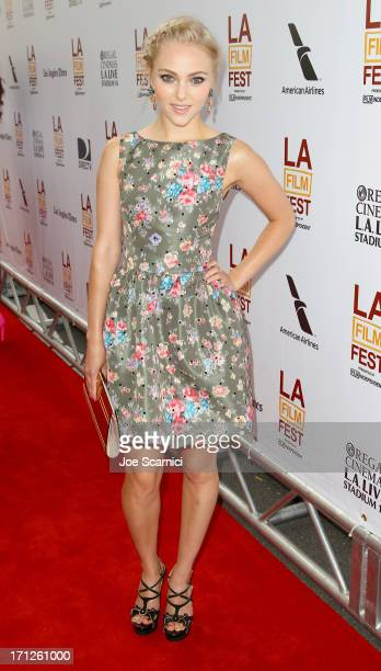 """Actress AnnaSophia Robb attends """"The Way, Way Back"""" premiere sponsored by DIRECTV during the 2013 Los Angeles Film Festival at Regal Cinemas L.A...."""