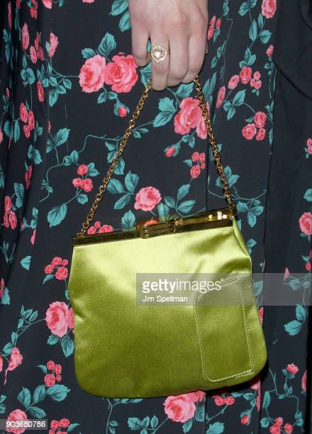 Actress AnnaSophia Robb bag detail attends the premiere of IFC Films' 'Freak Show' hosted by The Cinema Society and Bluemercury at Landmark Sunshine...