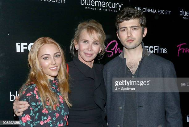 Actress AnnaSophia Robb director Trudie Styler and Ian Nelson attend the premiere of IFC Films' 'Freak Show' hosted by The Cinema Society and...