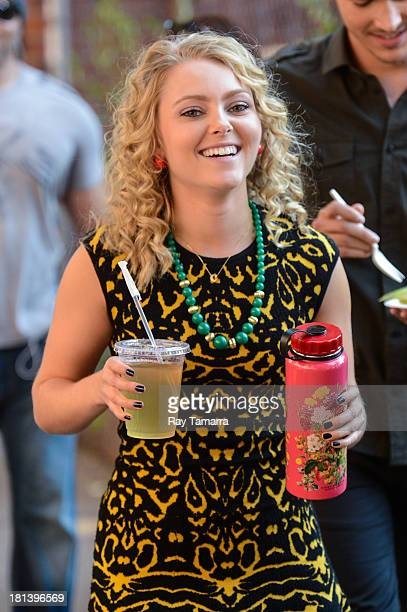 Actress AnnaSophia Robb enters The Carrie Diaries movie set at the Elizabeth Street Gallery on September 20 2013 in New York City