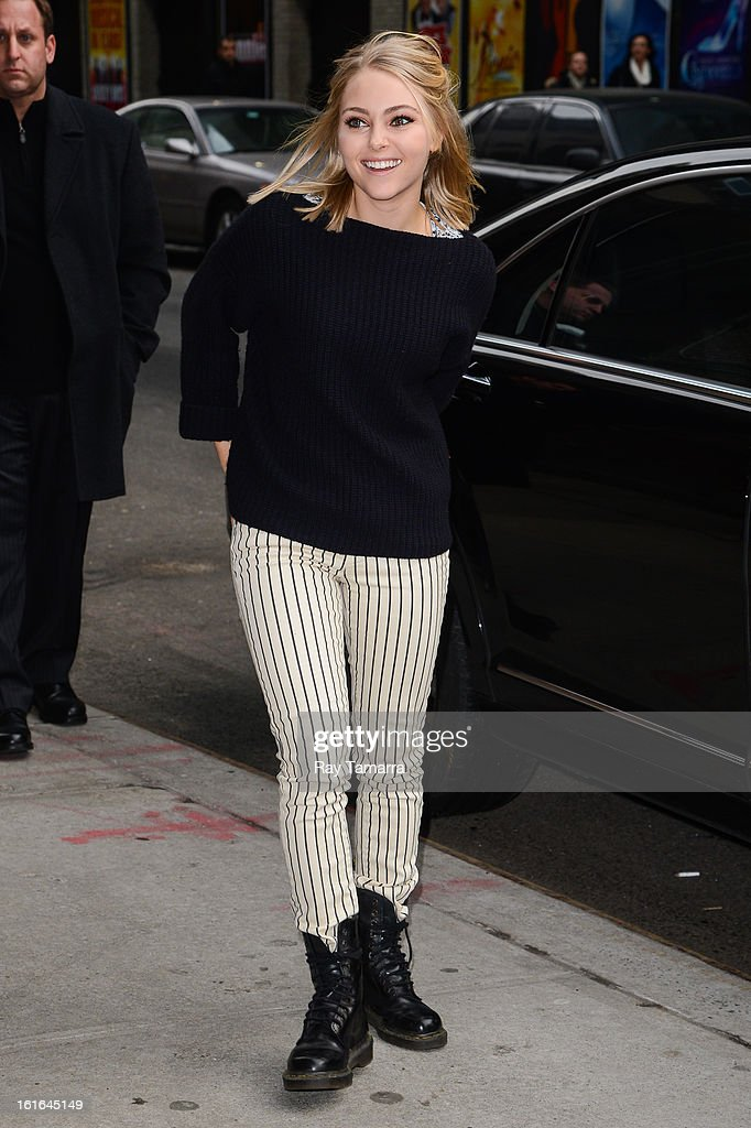 Actress AnnaSophia Robb enters the 'Late Show With David Letterman' taping at the Ed Sullivan Theater on February 13, 2013 in New York City.