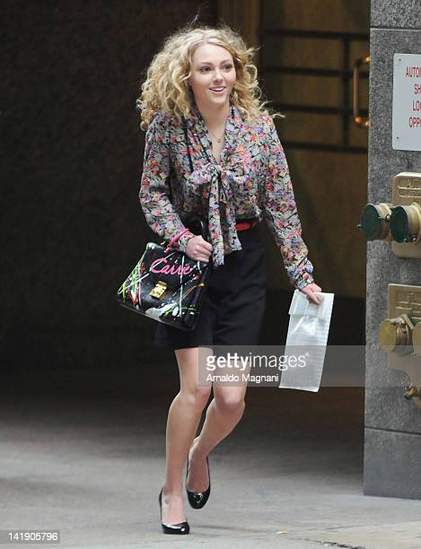 Actress AnnaSophia Robb films The Carrie Diaries on March 25 2012 in New York City