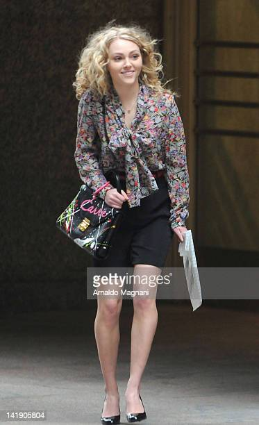 Actress AnnaSophia Robb films 'The Carrie Diaries' on March 25 2012 in New York City