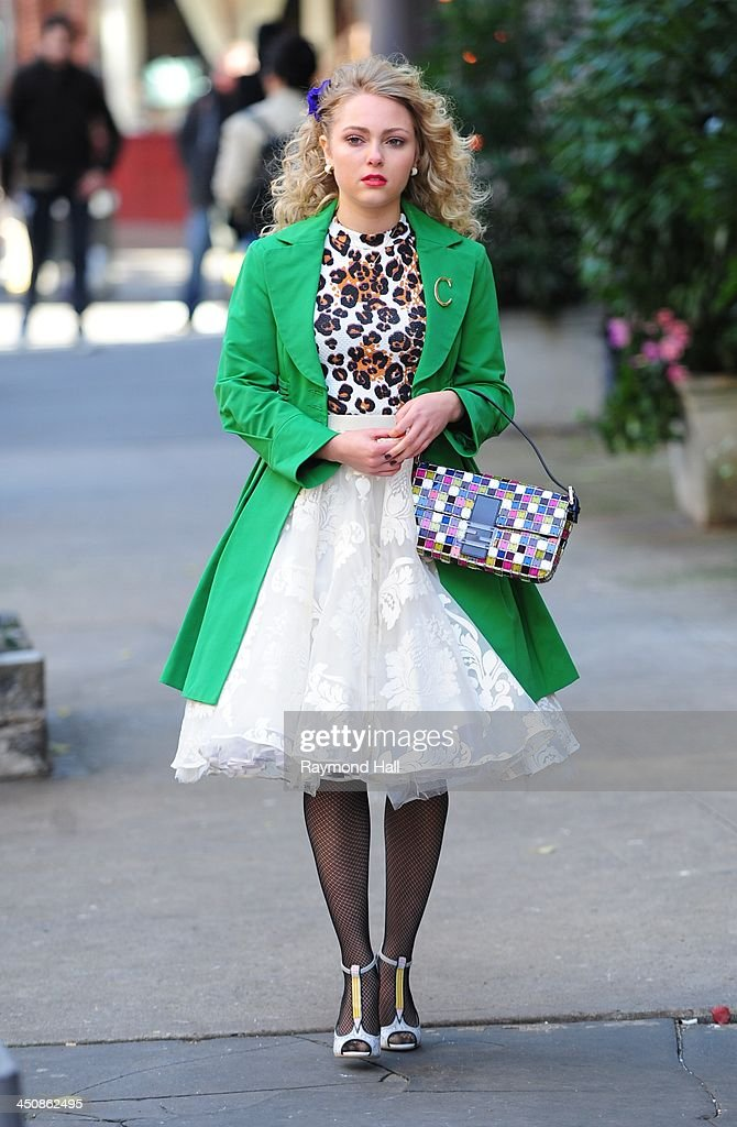 Actress AnnaSophia Robb is seen on the set of 'The Carrie Diaries' on November 20, 2013 in New York City.